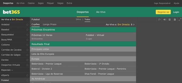 Bet365 - Futebol